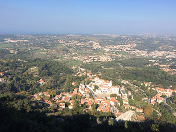 View of Sintra from Moorish castle